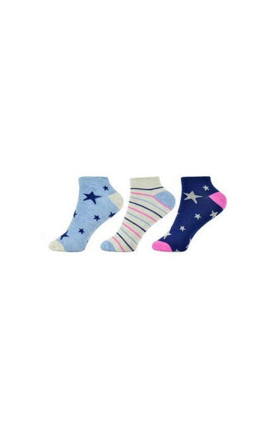 Stars and Stripes Printed Ankle Socks Multi Pack
