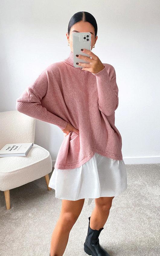 Steffani Knitted Shirt Jumper Dress