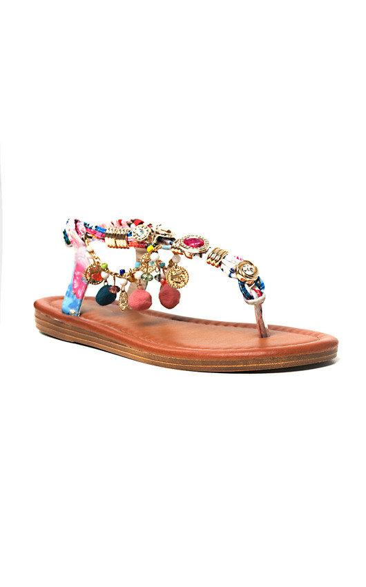 f9db49219fa7 Steffi Chain Jewelled T-Bar Sandals in Pink 2