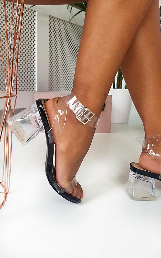Steffi Perspex Block Heels