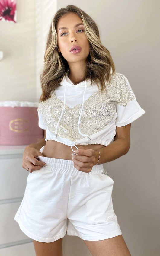 Steffy Sequin Shorts & Top Co-ord