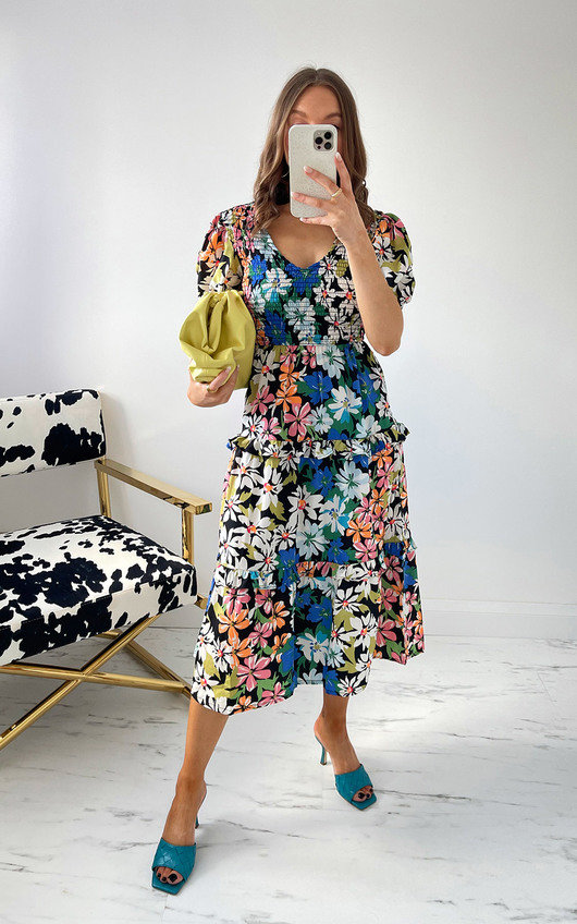 Stella Floral Midi Dress