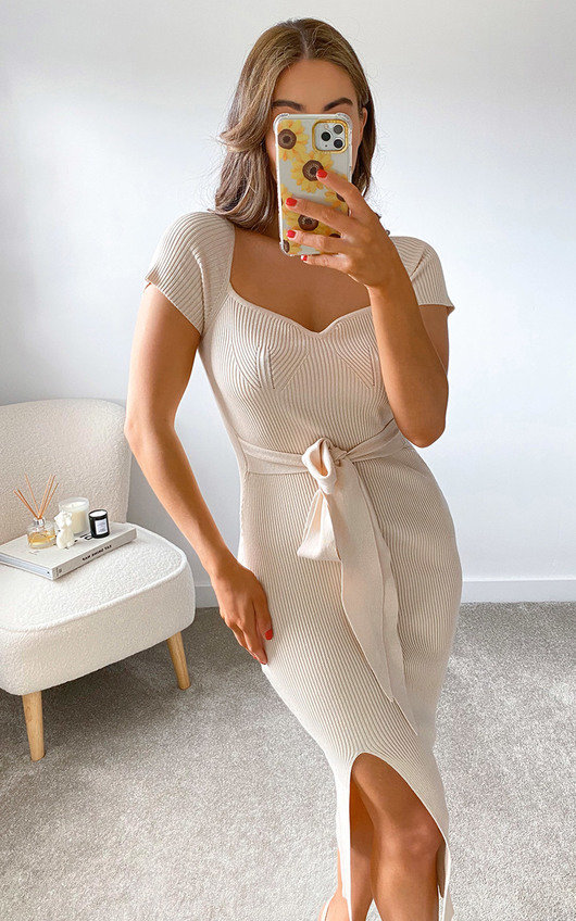 Summer Knitted Bodycon Midi Dress