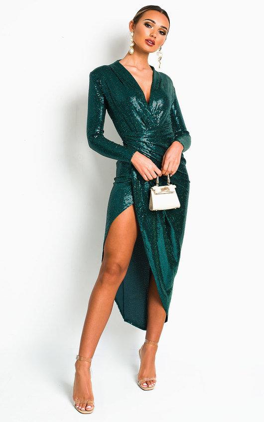 Susan Sequin Embellished Maxi Dress