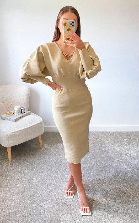 Susie Puff Sleeve Midi Dress