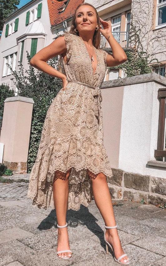 Sydney Lace Tie Waist Maxi Dress
