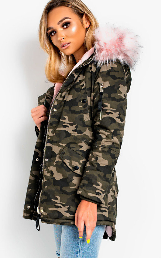 Sylvia Padded Faux Fur Hooded Jacket