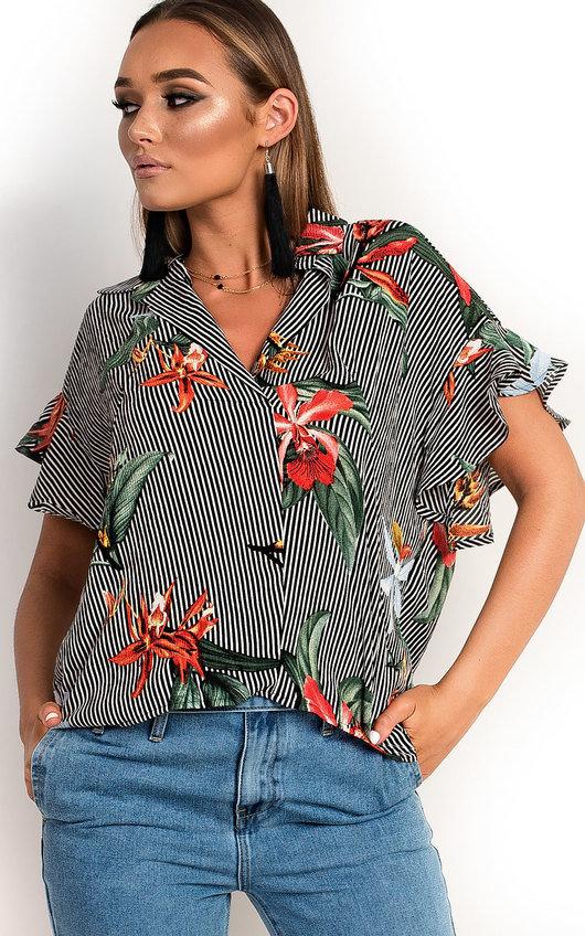 Tabbie Tropical Oversized Shirt