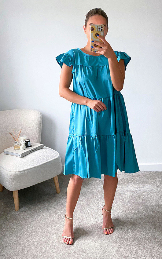 Tabitha Tiered Ruffle Sleeve Dress