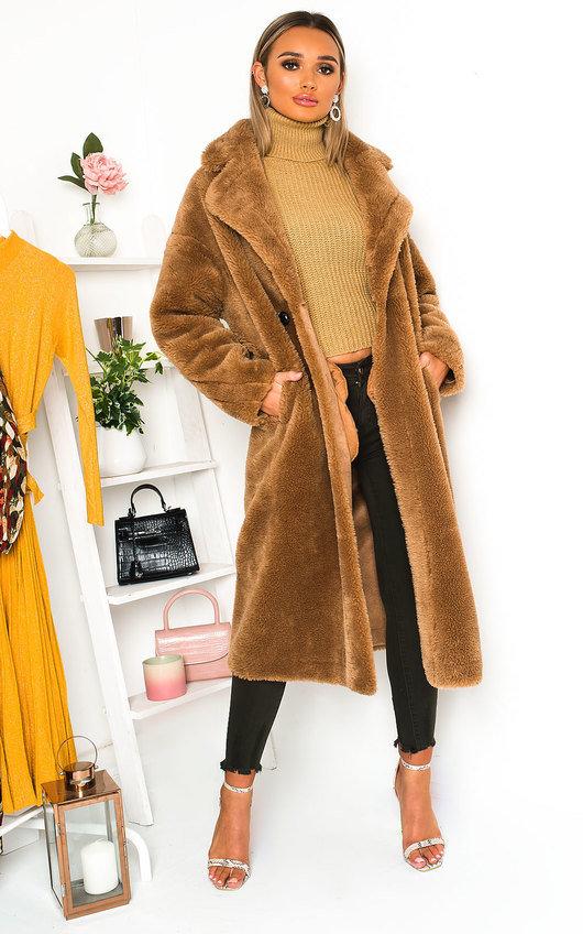 Tallulah Teddy Bear Maxi Coat