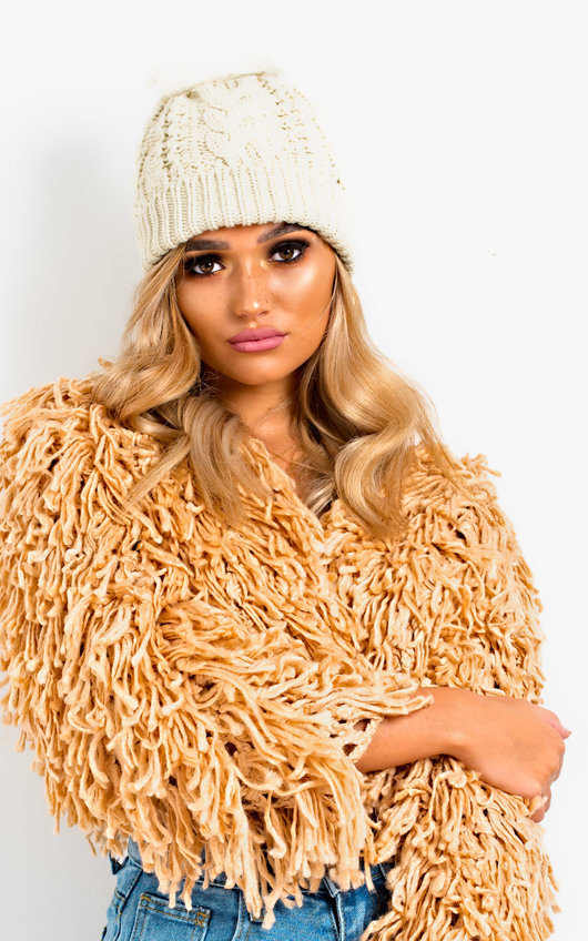 Tammy Faux Fur Lined Pom Pom Hat