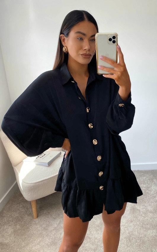Tanya Oversized Frill Shirt Dress