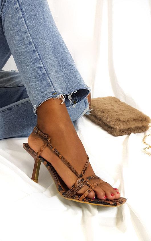 Tara Strappy Kitten Heels