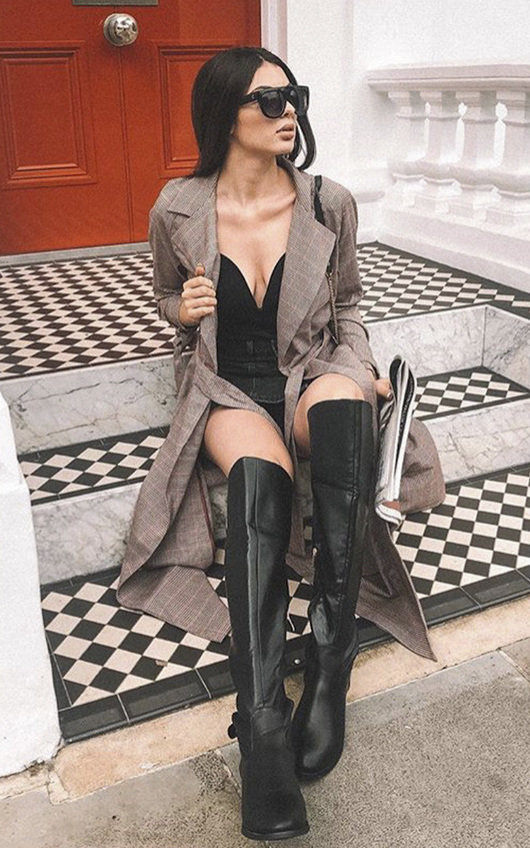 Tasha Buckle Knee High Boots