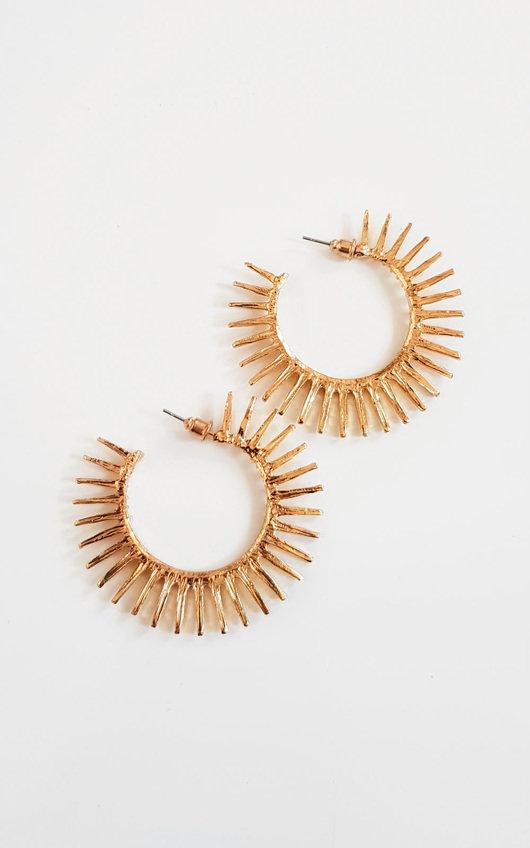 Tasha Spike Hoop Earrings