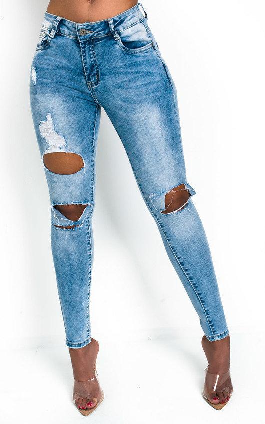 Tay Distressed Skinny Jeans