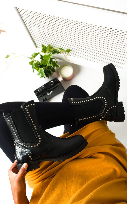 Tay Studded Embellished Ankle Boots