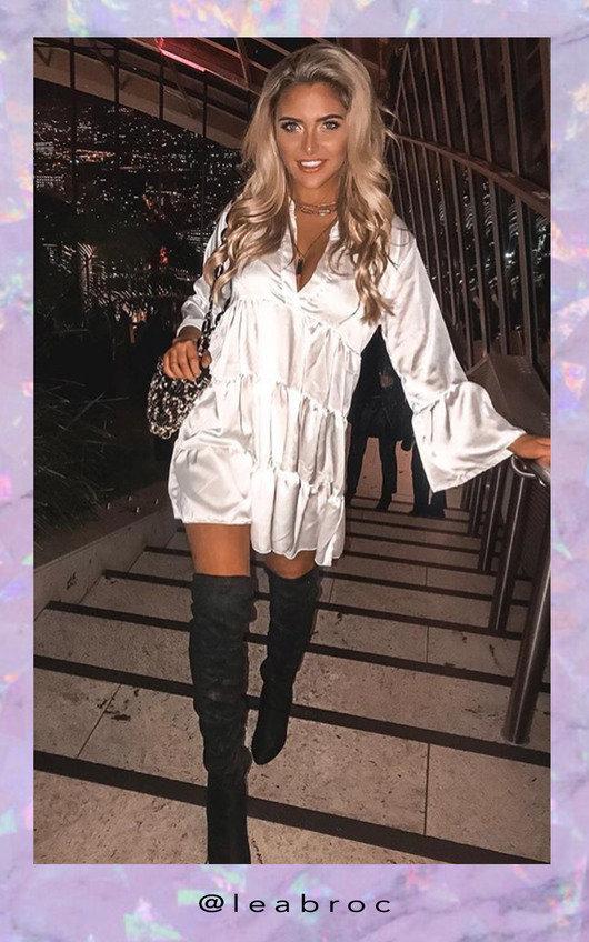 Tayla Flare Smock Dress