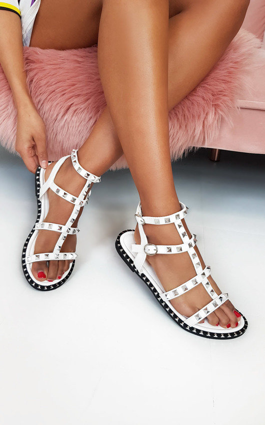 Teegan Ankle Strap Studded Sandals