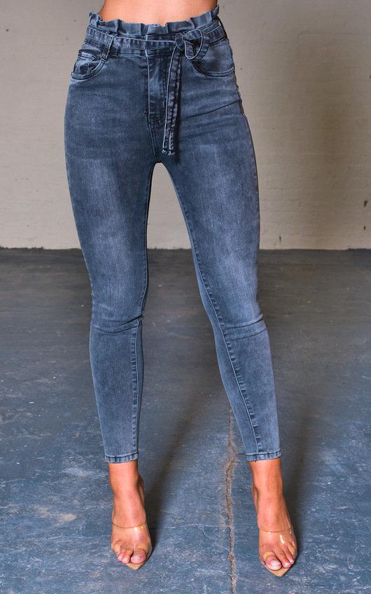 Teegan Tie Waist Skinny Jeans