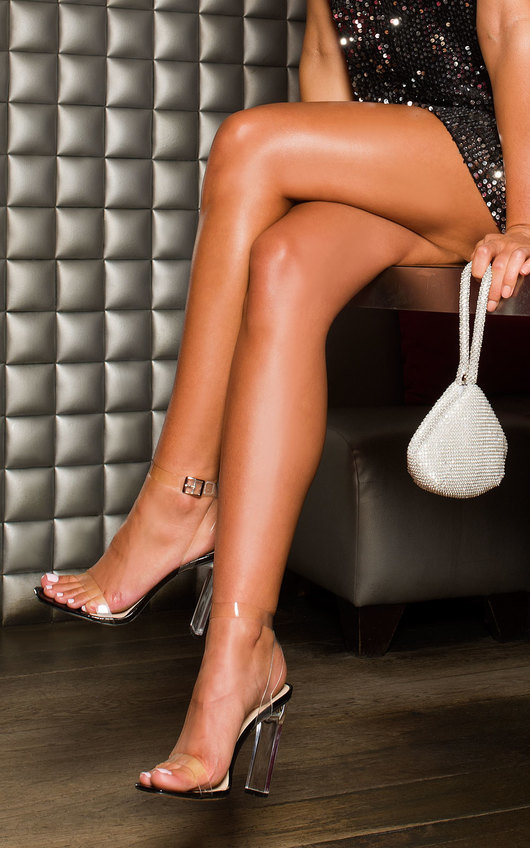 Tempany Barely There Perspex Heels