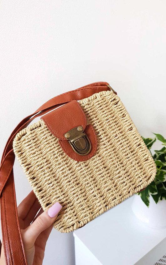Teo Straw Box Handbag