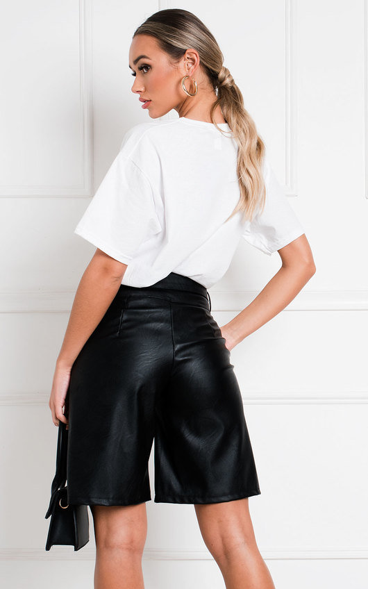 Tess Faux Leather Bermuda Shorts