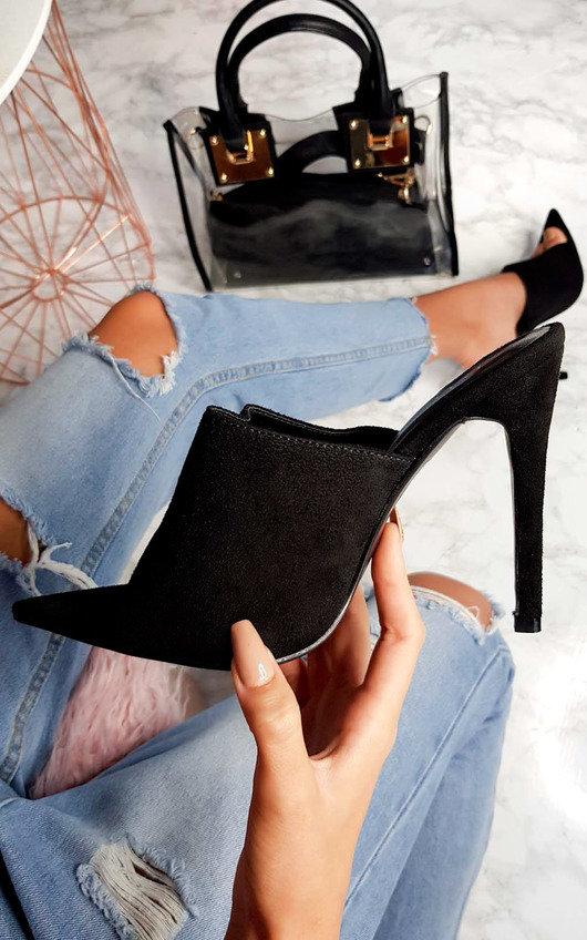 Tess Peep Toe Mule Heels