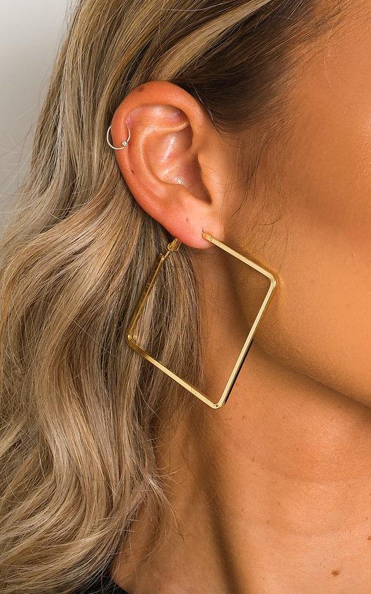 Tess Square Hoop Earrings