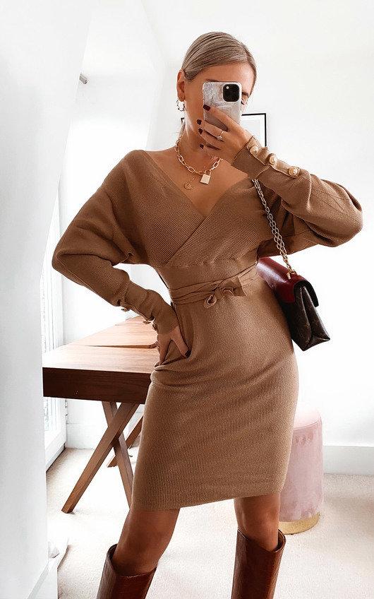 Tessa Knitted Bodycon Midi Dress