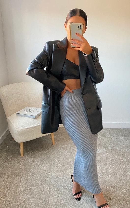 Tessa Knitted Bodycon Midi Skirt