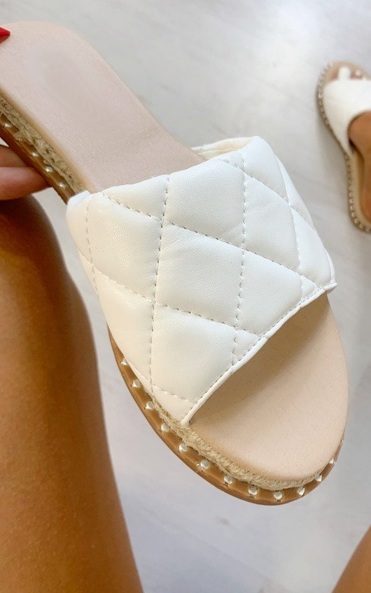Tessa Quilted Slip On Sandals