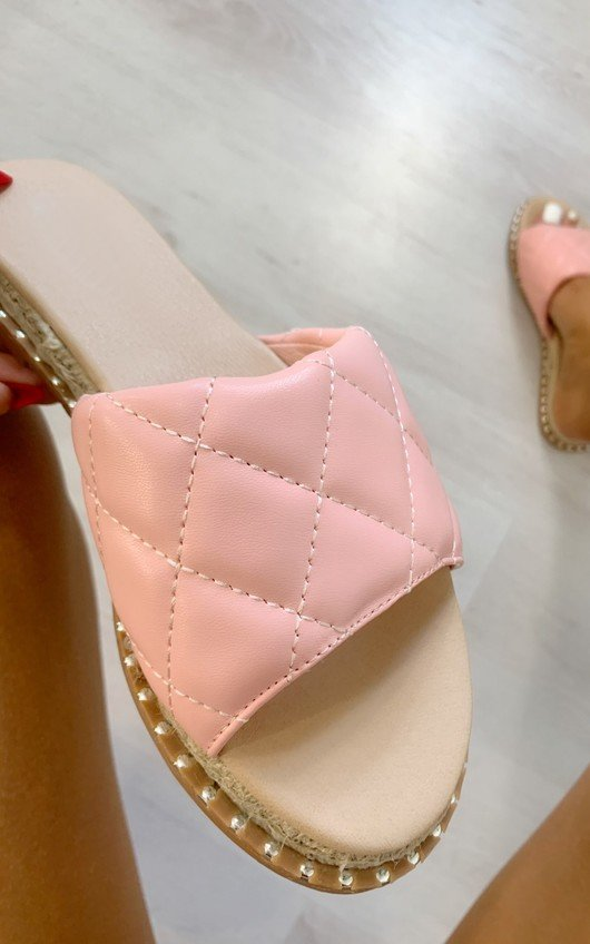 Tessa Quilted Slip On Sandals
