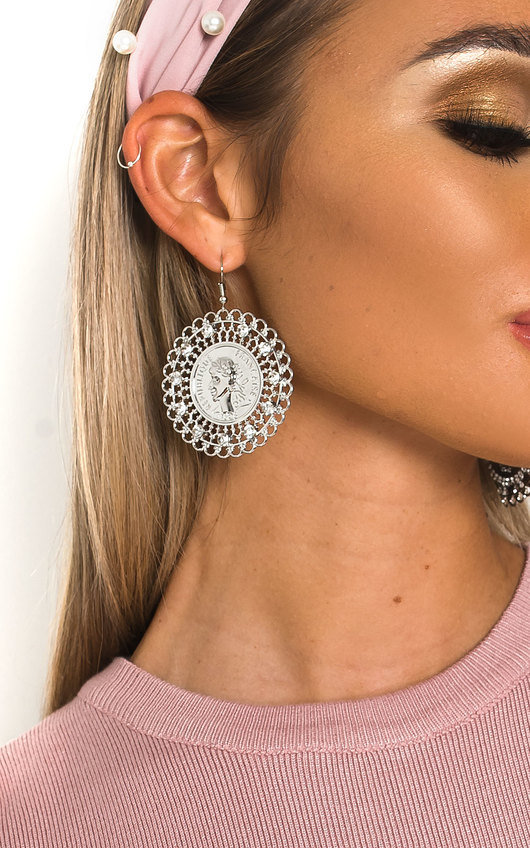 Tessa Statement Coin Drop Earrings