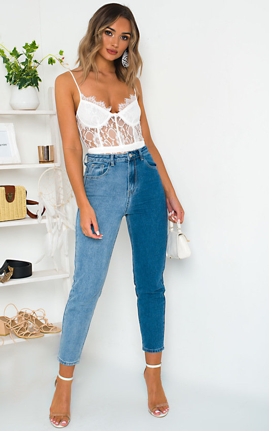 Tessi Two Tone Jeans