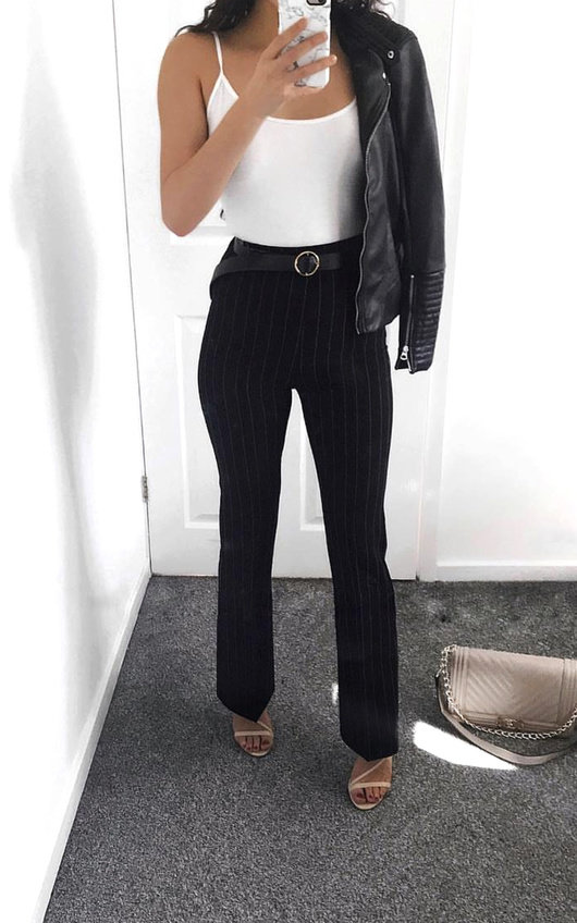 Tessie Striped Flare Trousers