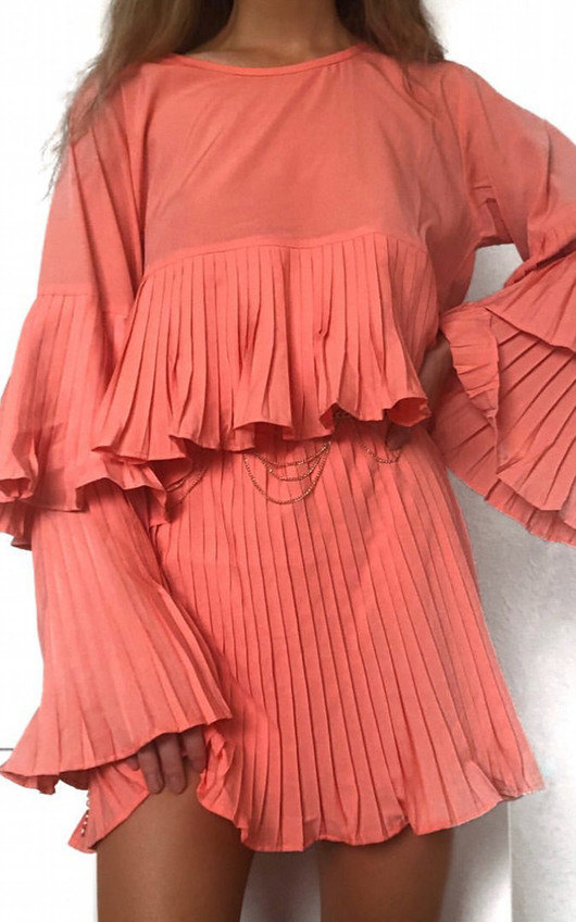 Tessy Frill Shift Dress