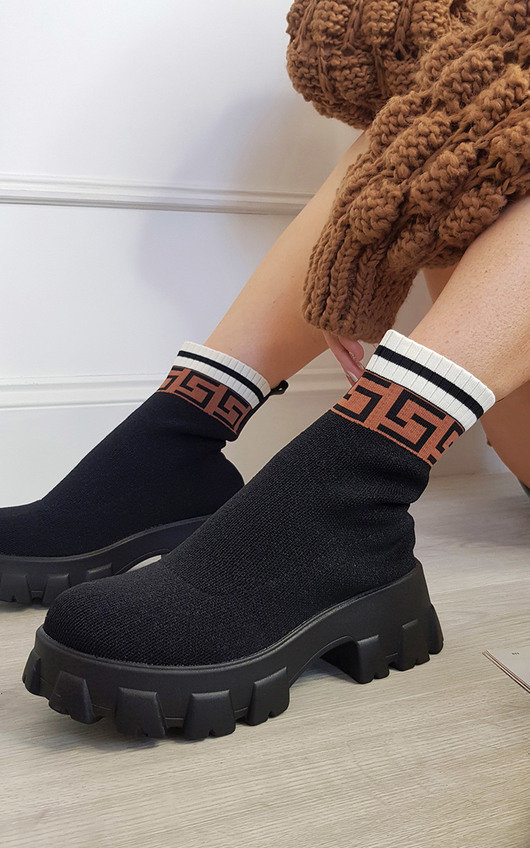 Thalia Chunky Printed Ankle Boots