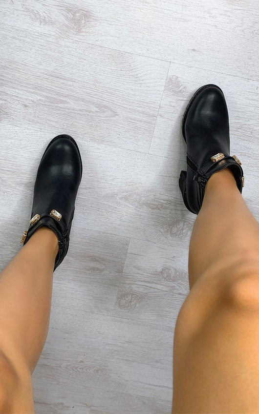 Tia Jewelled Ankle Boots