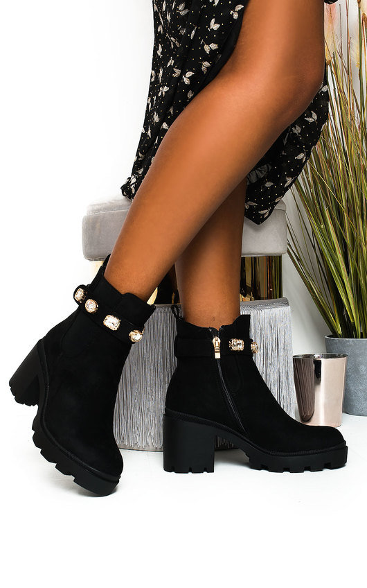 Tia Jewelled Chelsea Ankle Boots
