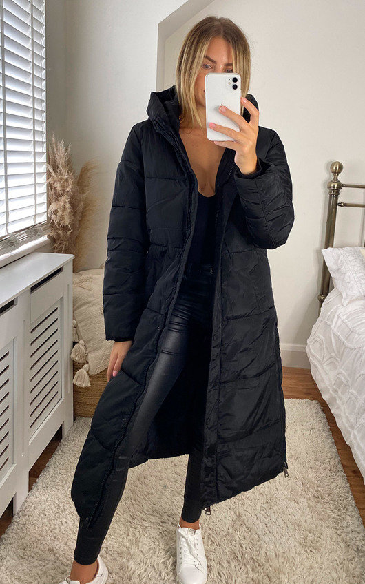Tia Longline Hooded Puffer Jacket