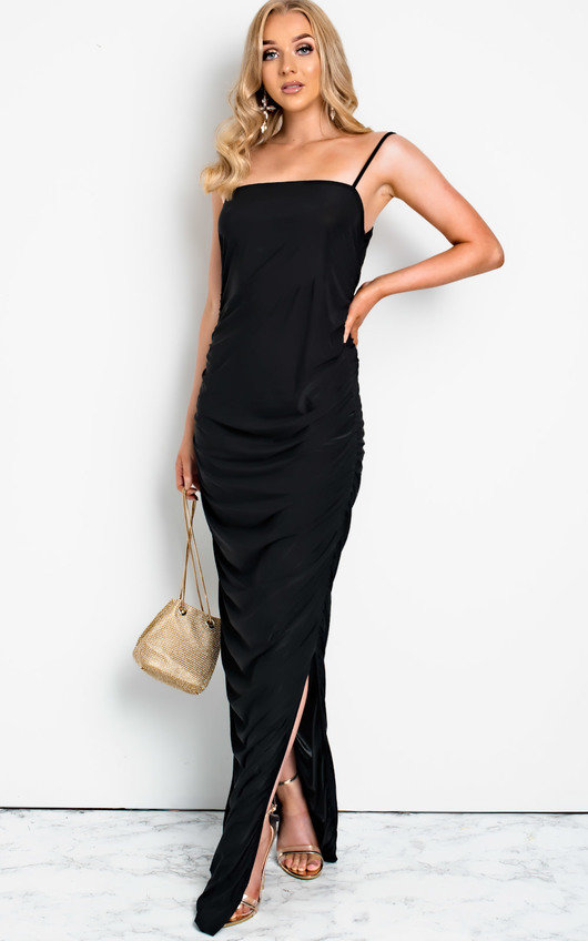 Tia Slinky Side Split Maxi Dress