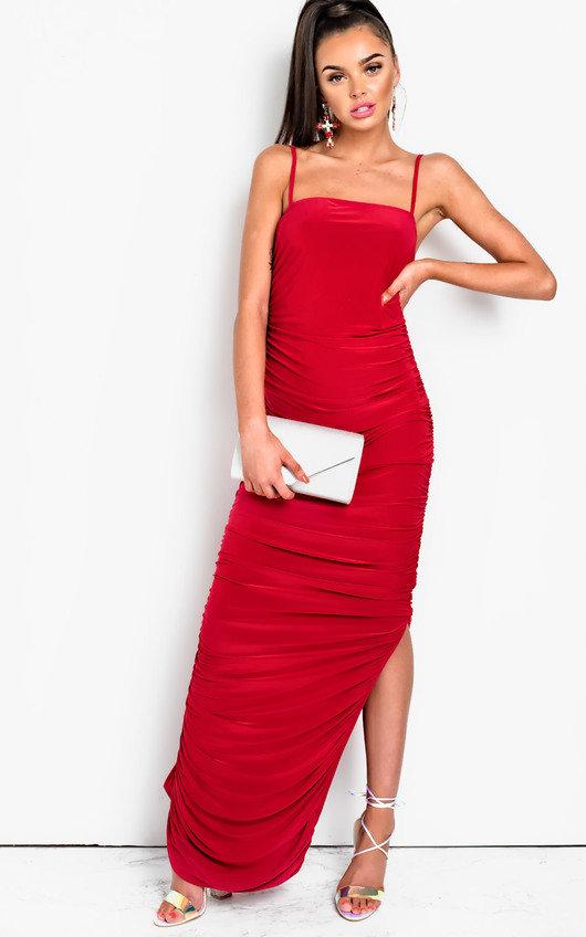 Tia Slinky Side Split Maxi Dress
