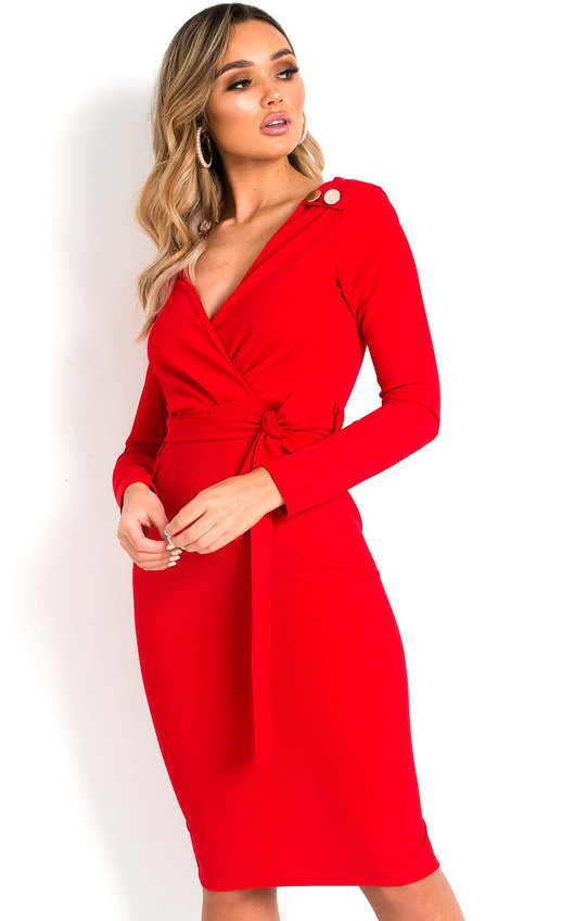 Tia Tie Waist Midi Dress