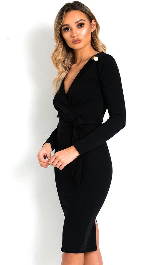 Tia Tie Waist Midi Dress