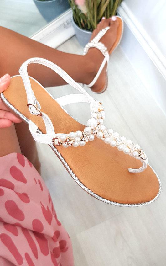 Tianna T Bar Pearl Embellished Sandals
