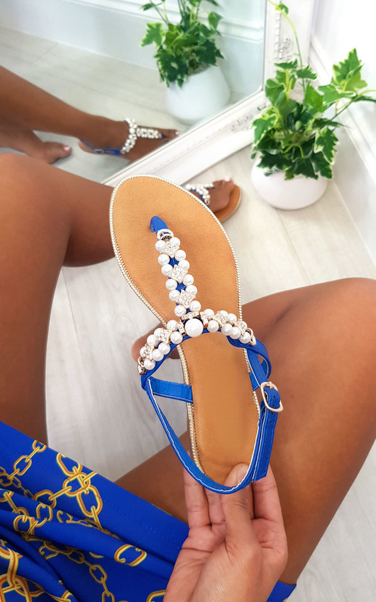 Tianna T Bar Pearl Embellished Sandals