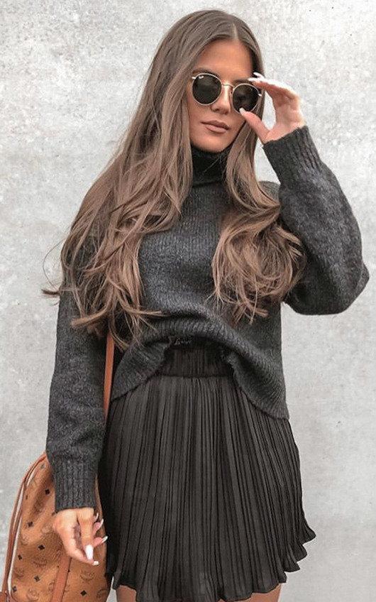 Tiff Crinkle High-Waist Frill Skirt