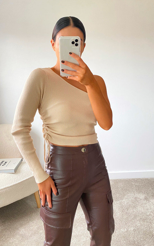 Tiff Knitted One Shoulder Top