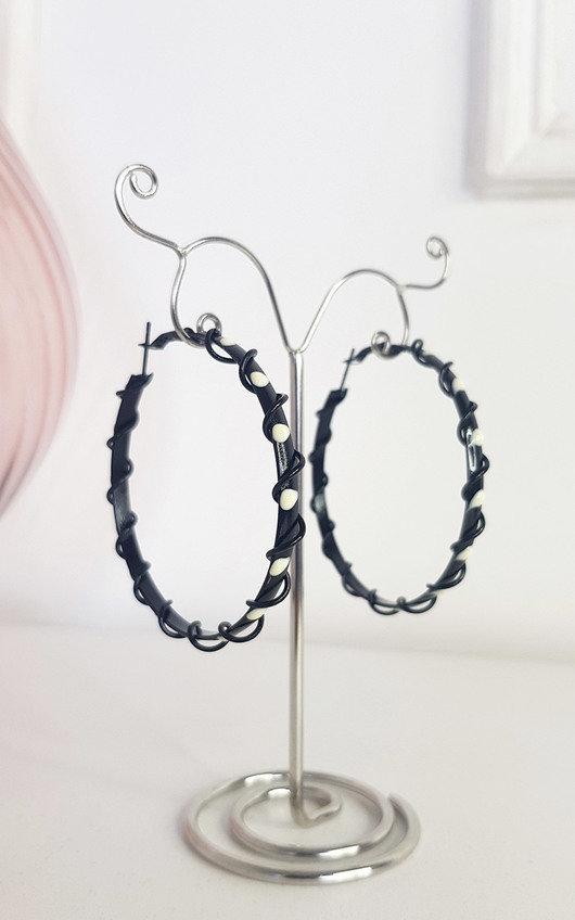 Tiff Spiral Detail Hoop Earrings
